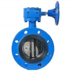 F7480 Marine worm gear double flanged butterfly valve